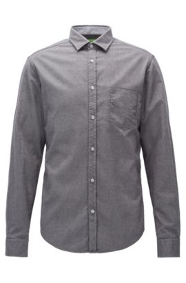 Camicia in flanella regular fit, Grigio