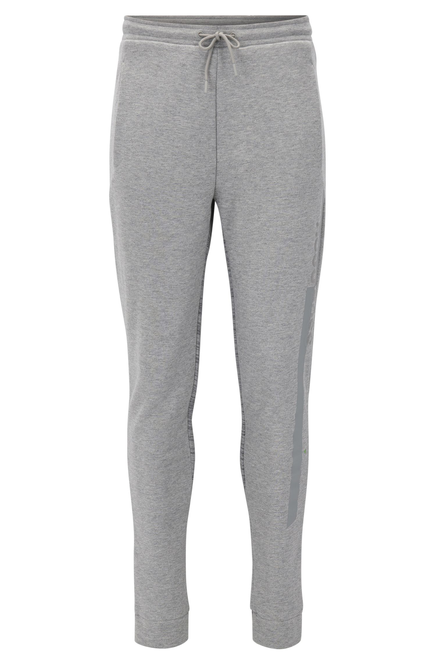 Slim-fit cotton-blend jersey trousers with prints