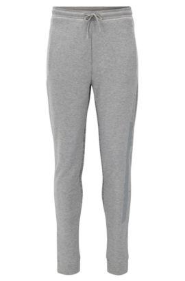 Pantalon en jersey Slim Fit de coton mélangé à imprimés, Gris chiné