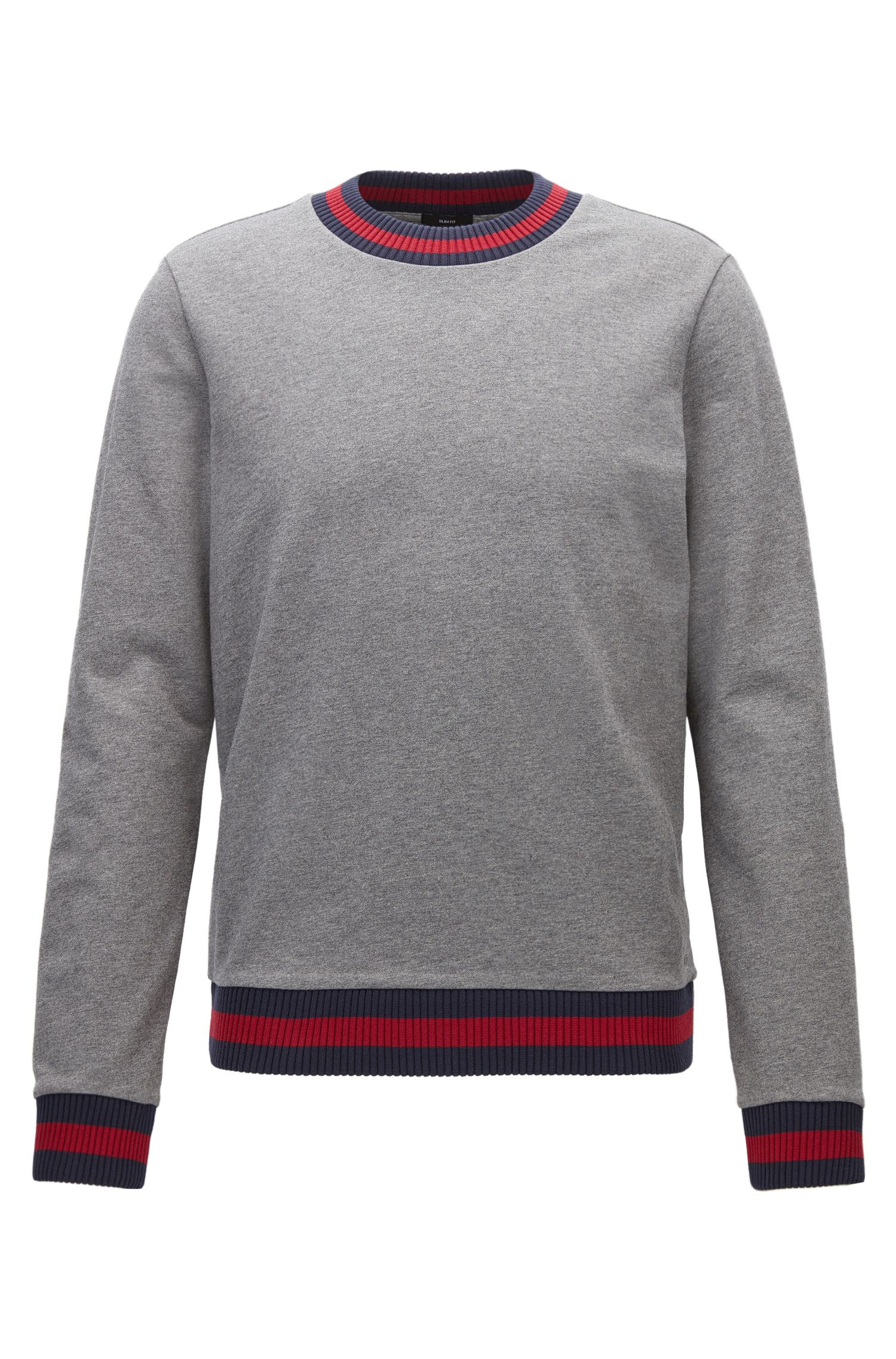Sweat Slim Fit en molleton French Terry aux finitions bicolores