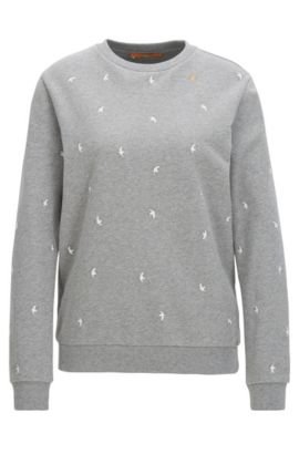 Relaxed-fit sweater in French terry, Grey
