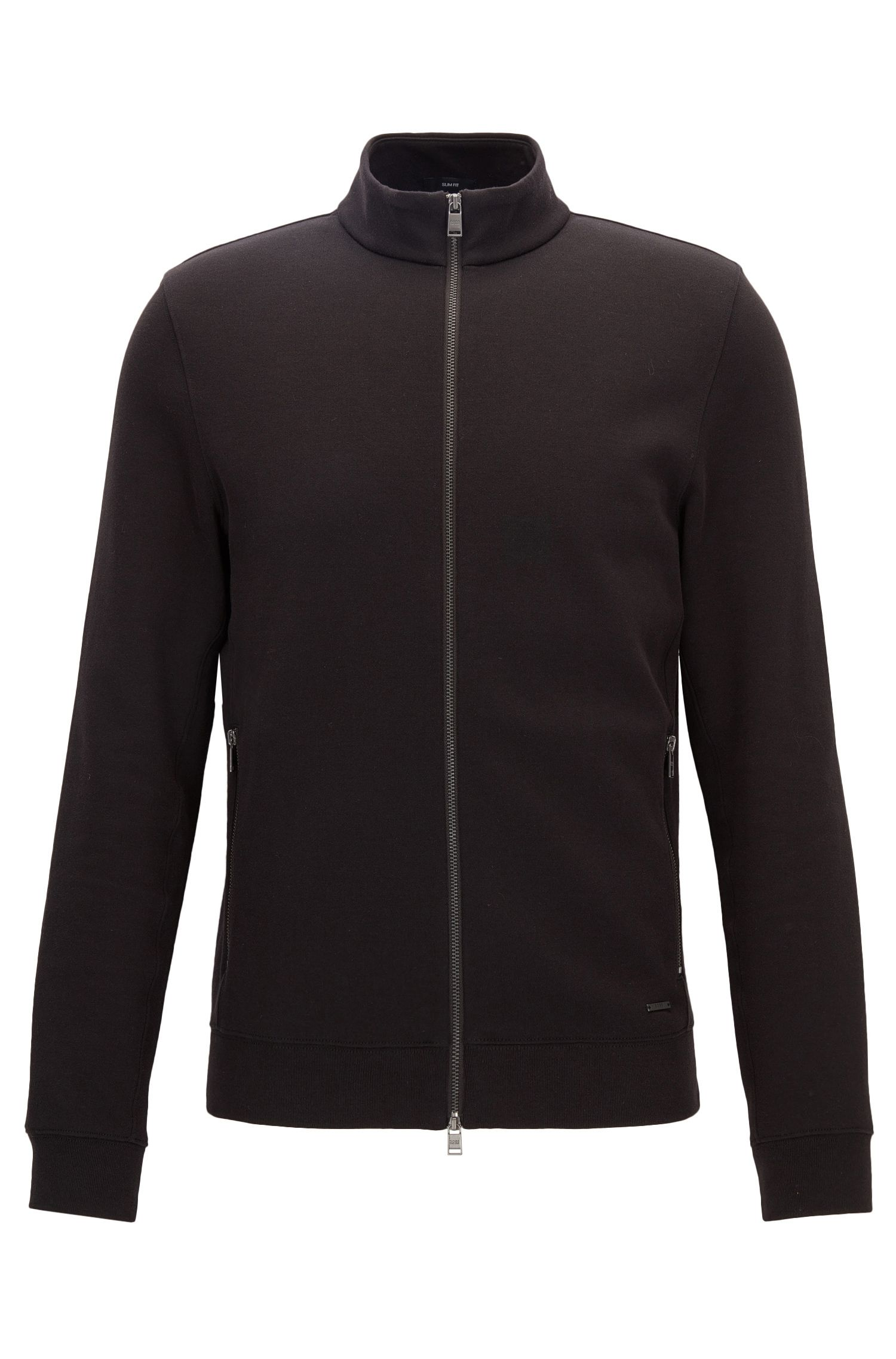 Veste molletonnée Slim Fit en tissu double face