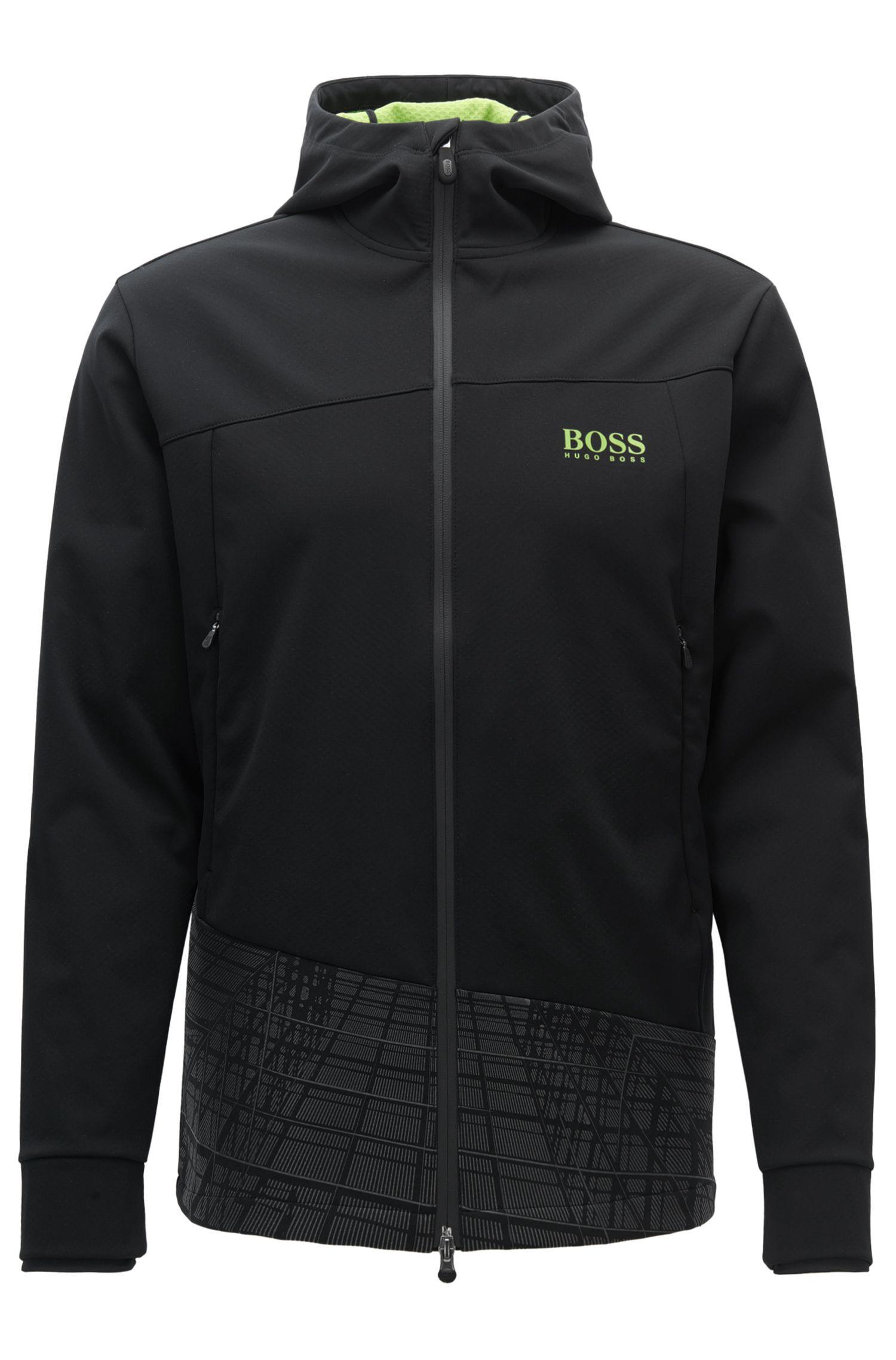 Slim-fit jas van elastische bovenstof