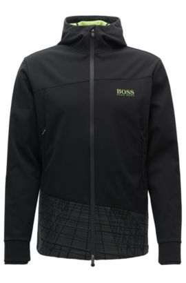 Slim-fit jas van elastische bovenstof, Zwart