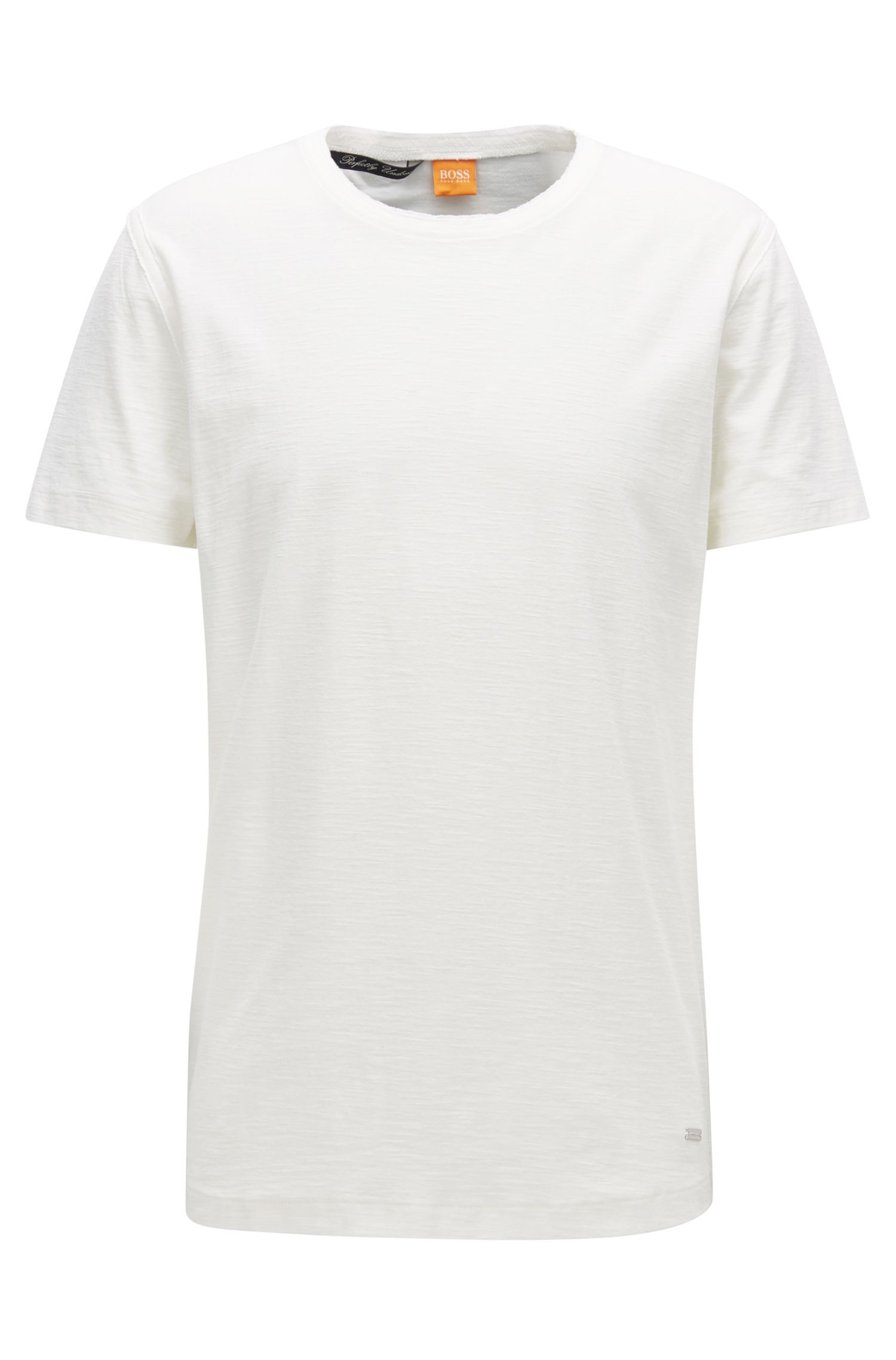 T-shirt Relaxed Fit en jersey de coton flammé