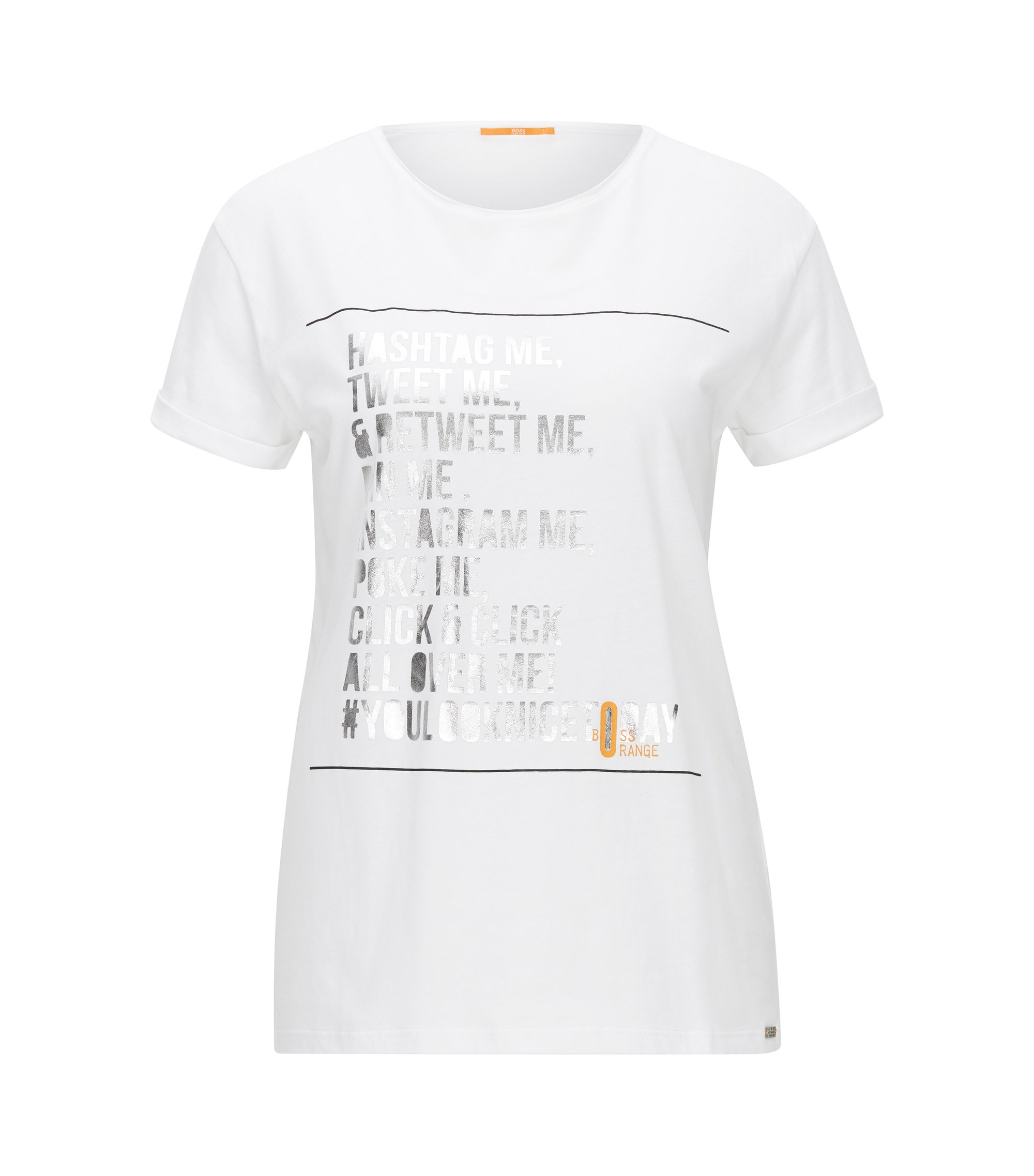 T-shirt Relaxed Fit en jersey simple, Blanc