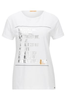 Relaxed-fit T-shirt in single jersey, White