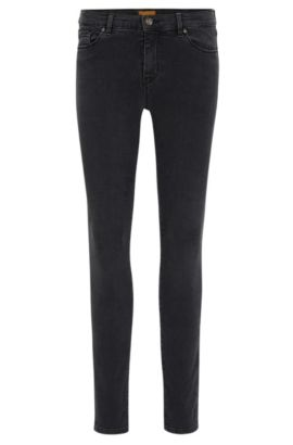 Skinny-fit jeans van super-stretchdenim, Antraciet
