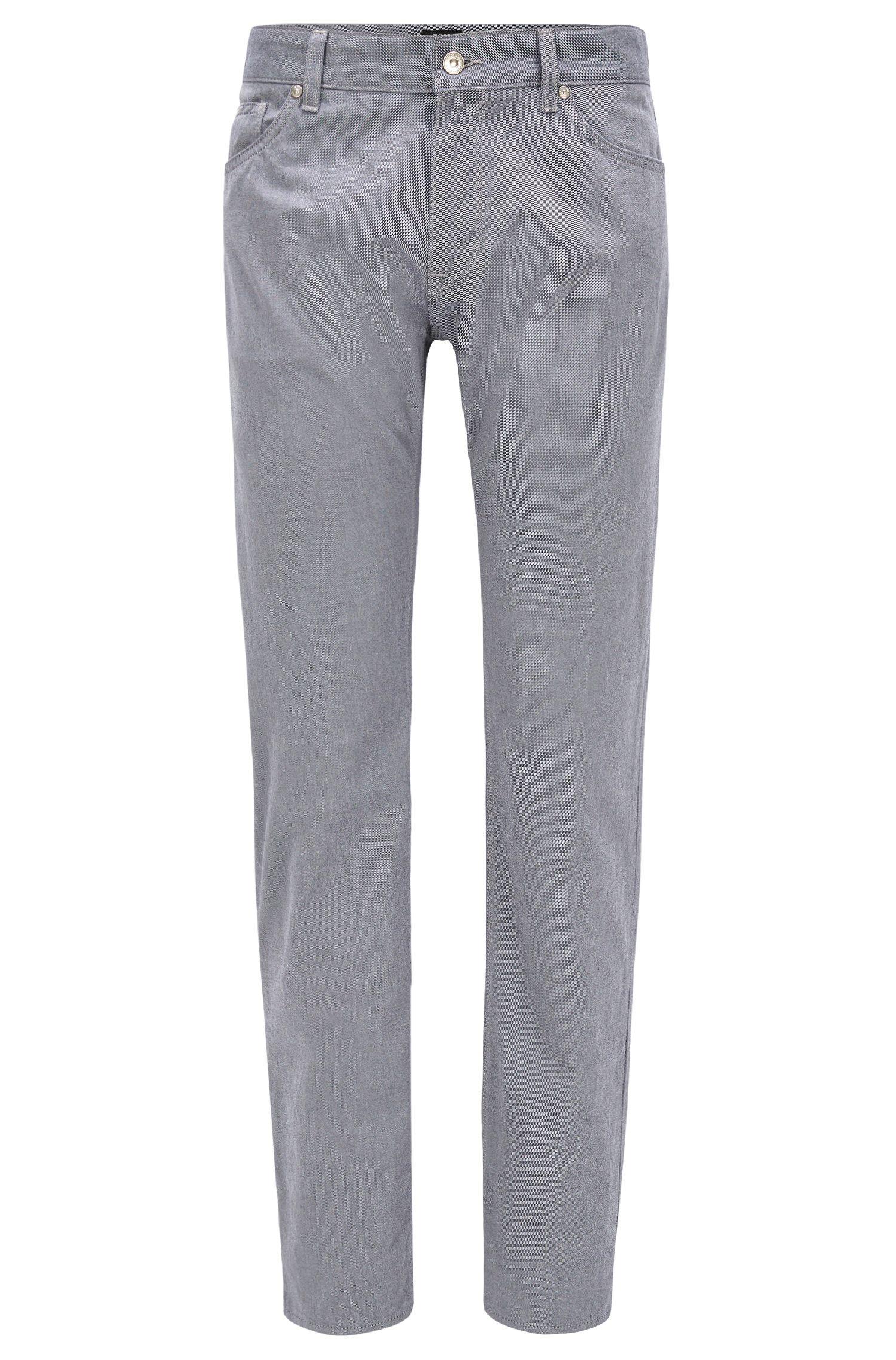 Jeans regular fit in twill di denim bicolore