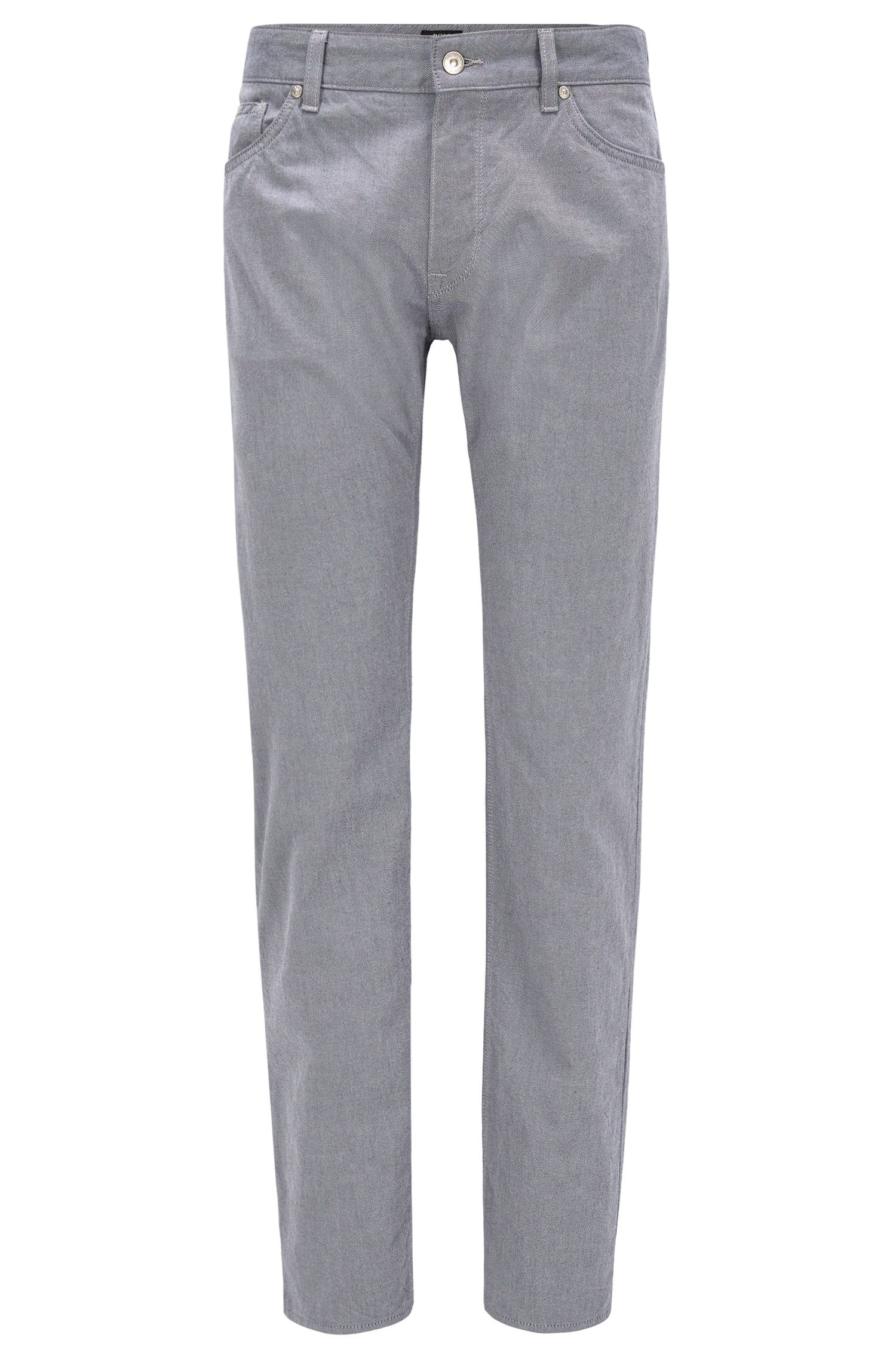 Regular-Fit Jeans aus zweifarbigem Denim-Twill