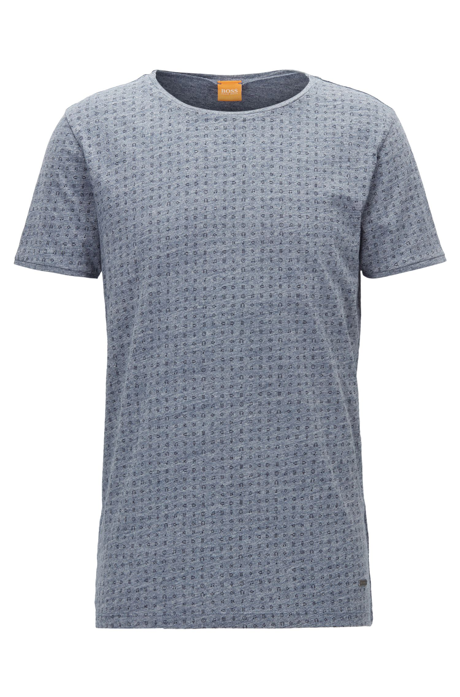 Regular-fit T-shirt van gemêleerde jersey