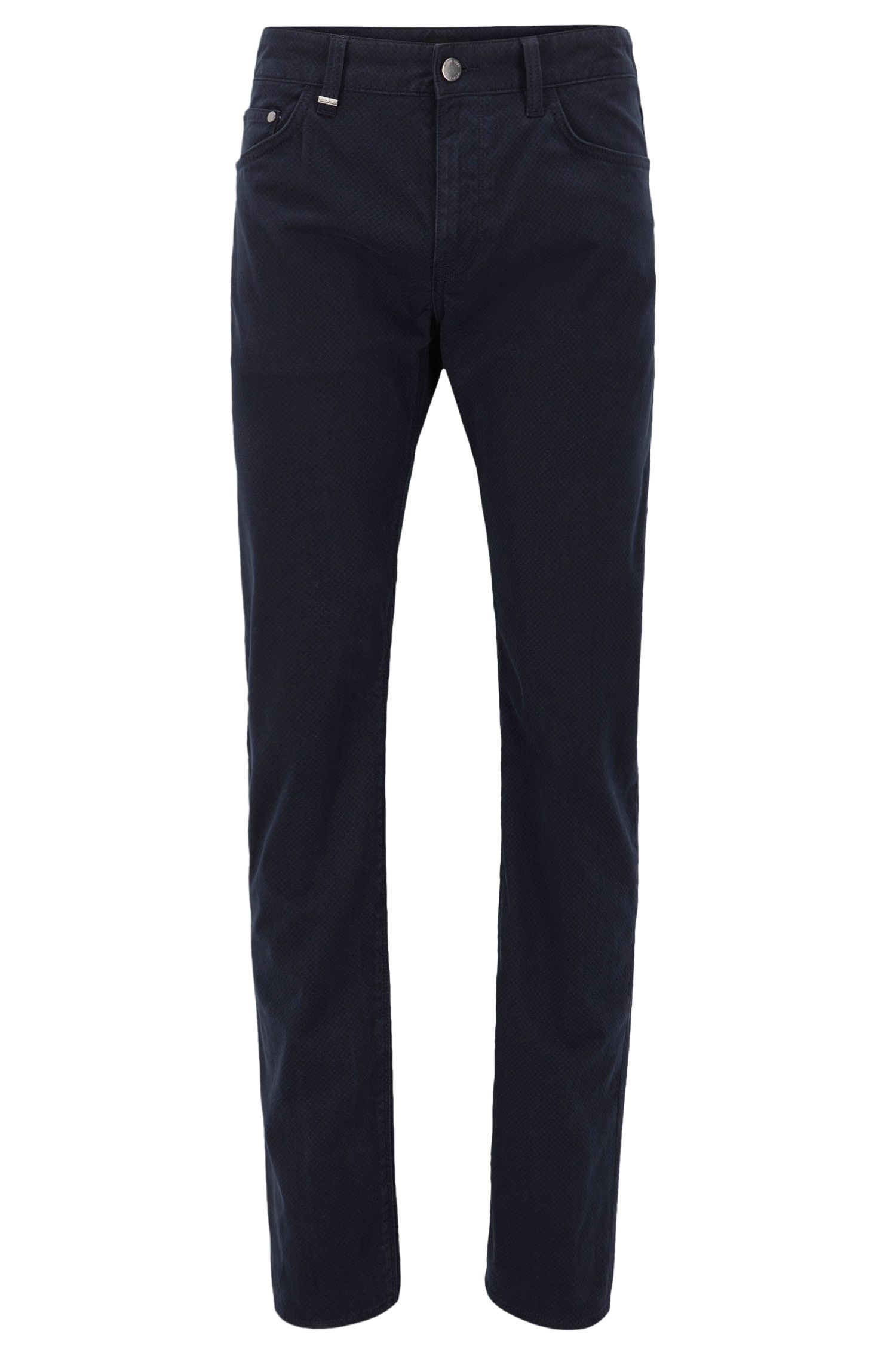 Regular-Fit Jeans aus bedrucktem Stretch-Satin