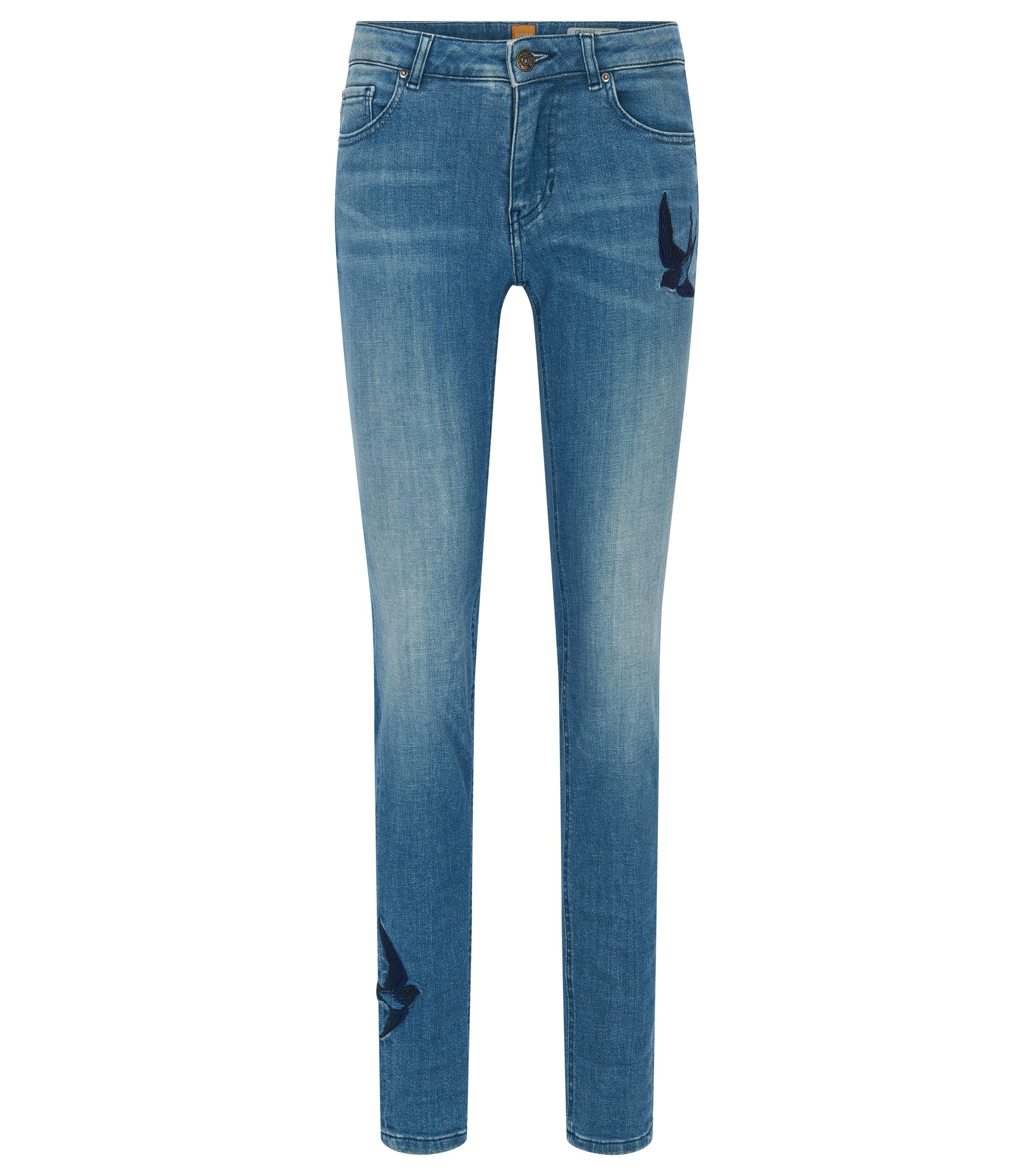 Slim-Fit Jeans aus Super-Stretch-Denim, Blau