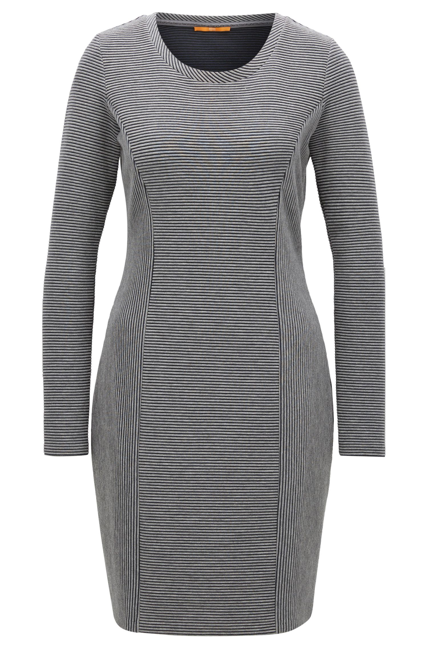 Long-sleeved dress in a cotton blend