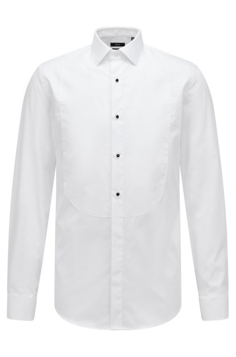 9908cd106 BOSS - Formal slim-fit shirt in pure cotton