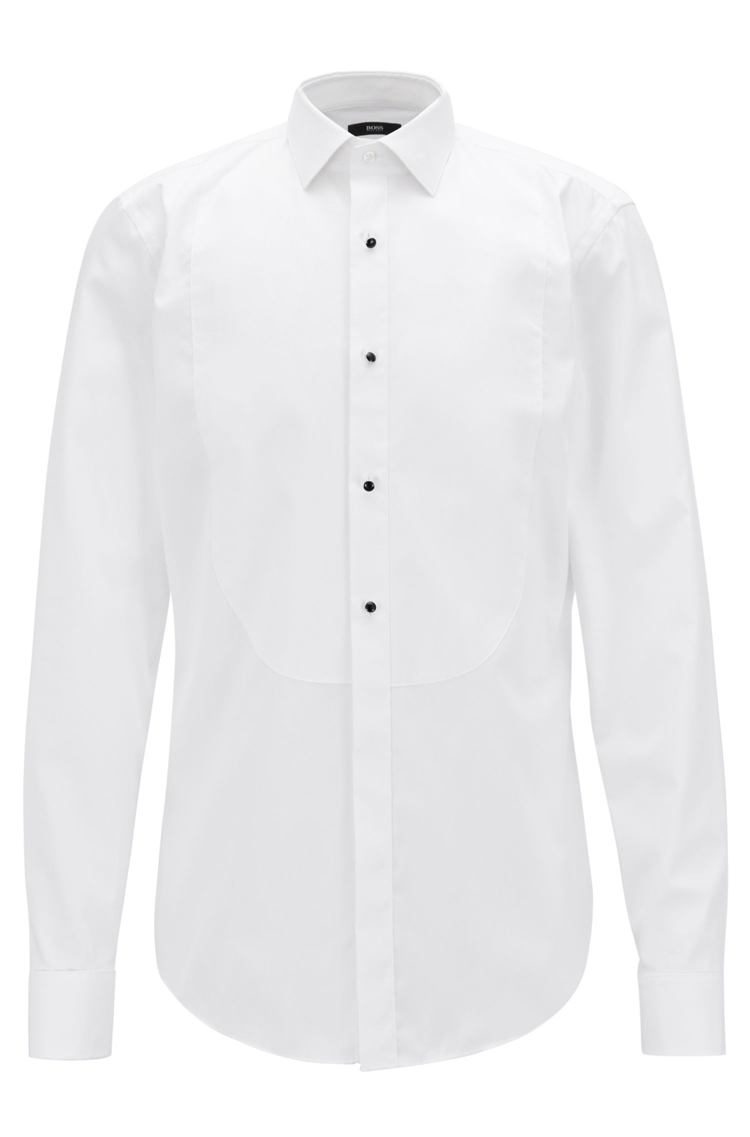 Camisa elegante slim fit en puro algodón