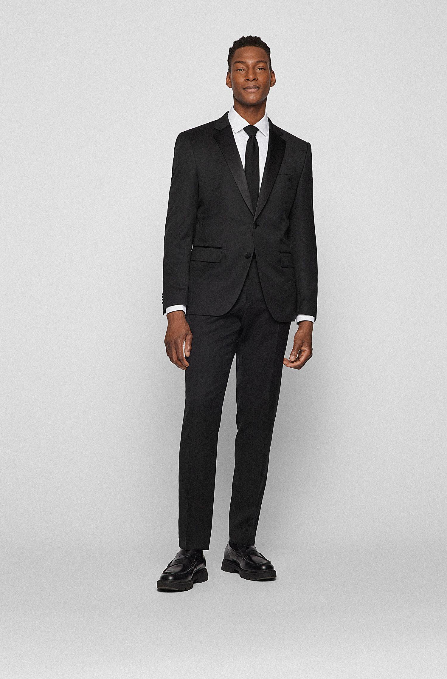 Chemise Slim Fit habillée, en pur coton, Blanc