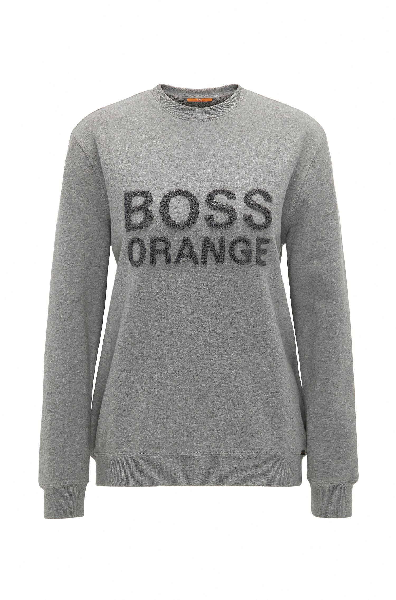 Sweatshirt aus Baumwolle mit Logo-Stickerei: ´Talogo`