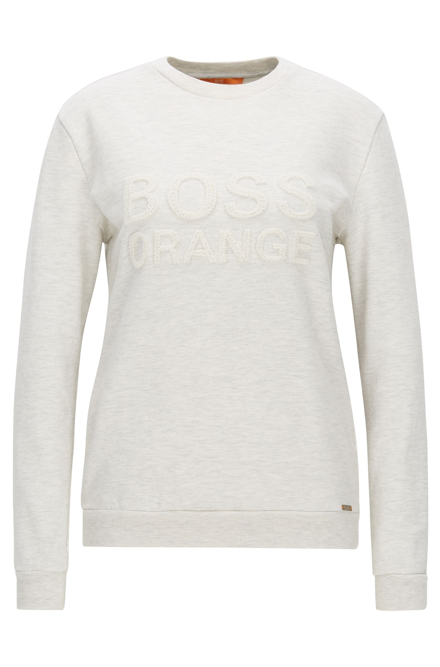 Relaxed-Fit Pullover aus French Terry mit Rundhalsausschnitt