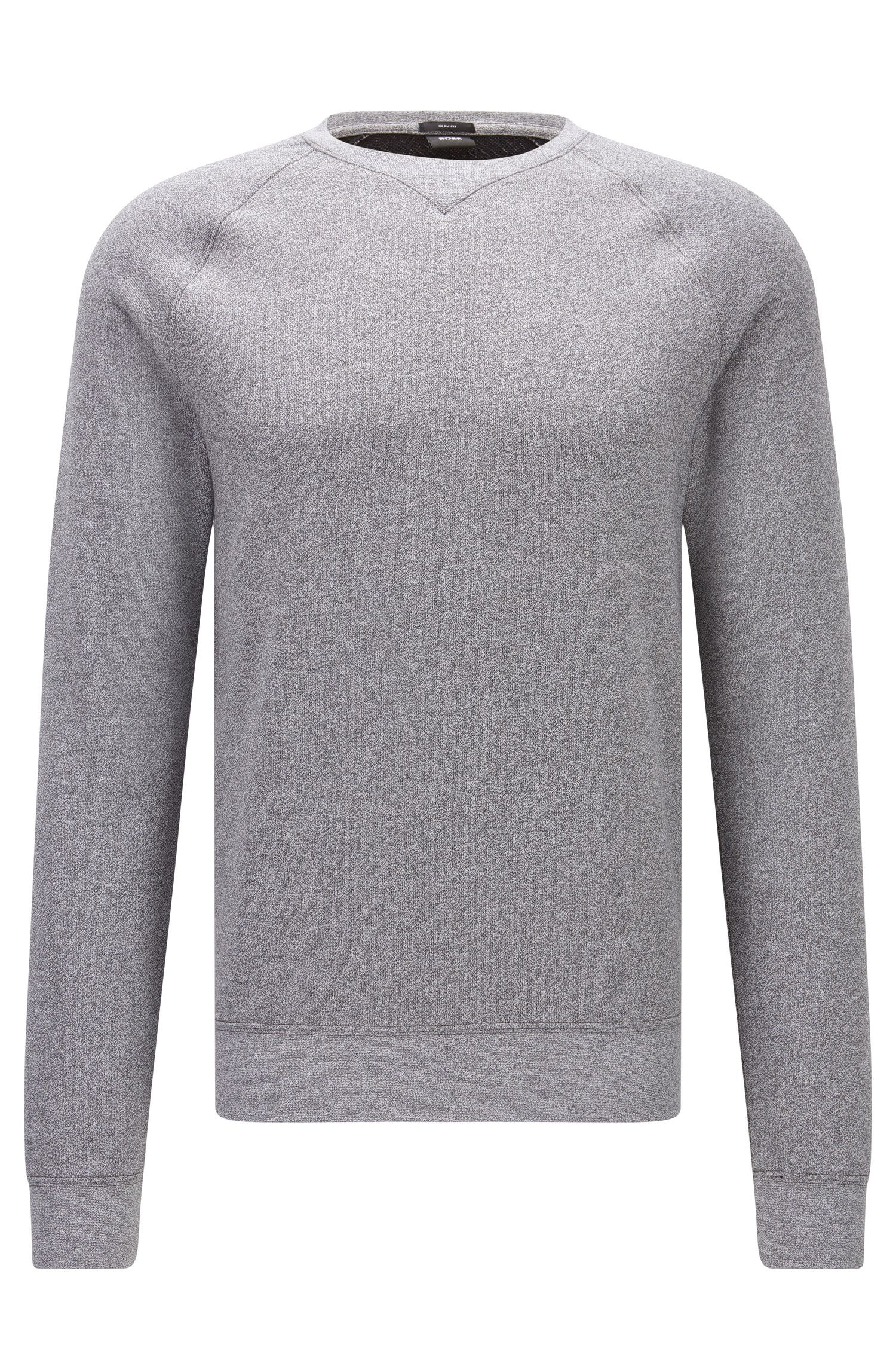 Mouliné sweatshirt in soft cotton