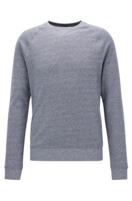 Sweat en coton doux chiné, Bleu vif