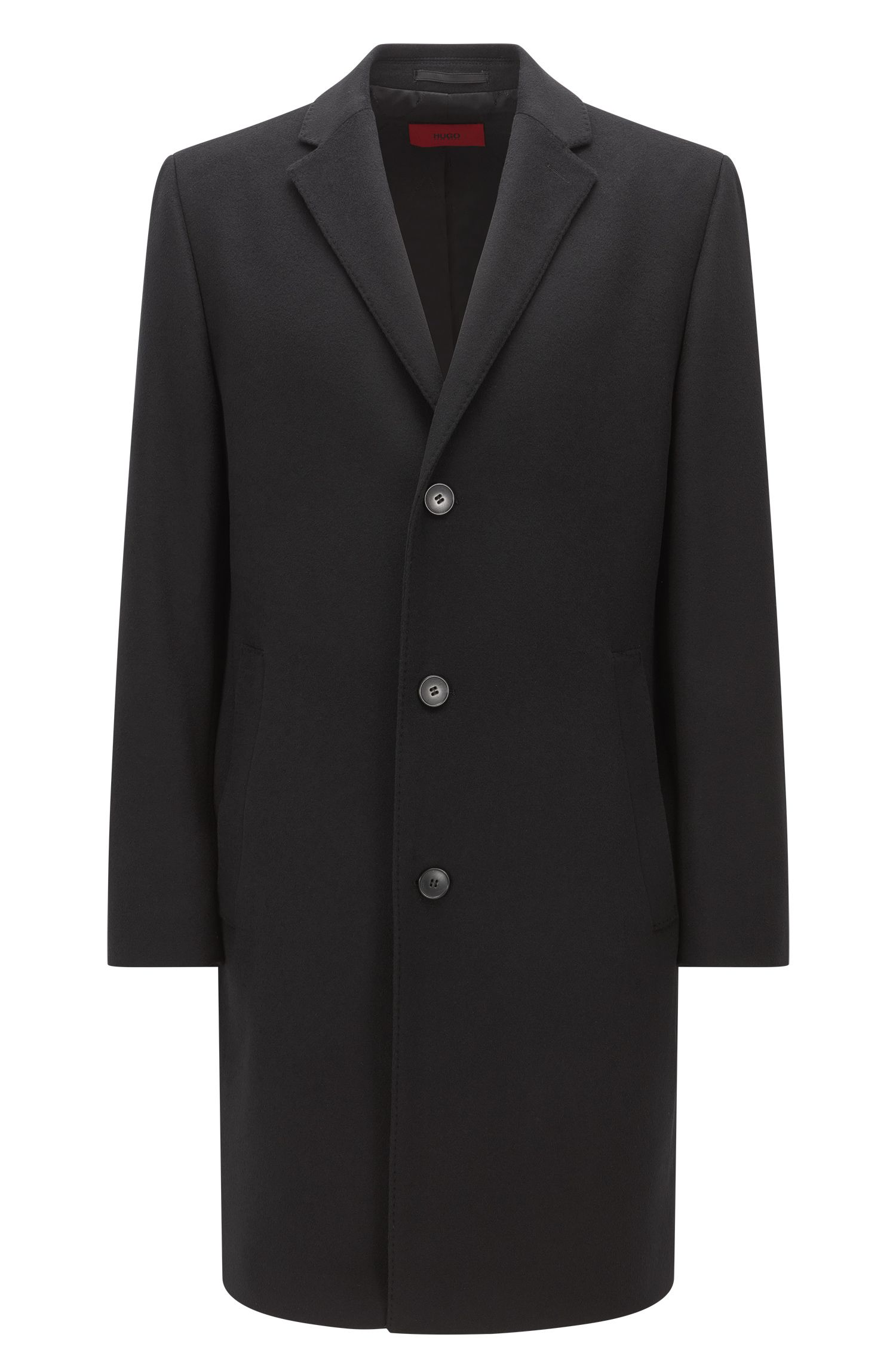 Wool-blend overcoat in a regular fit
