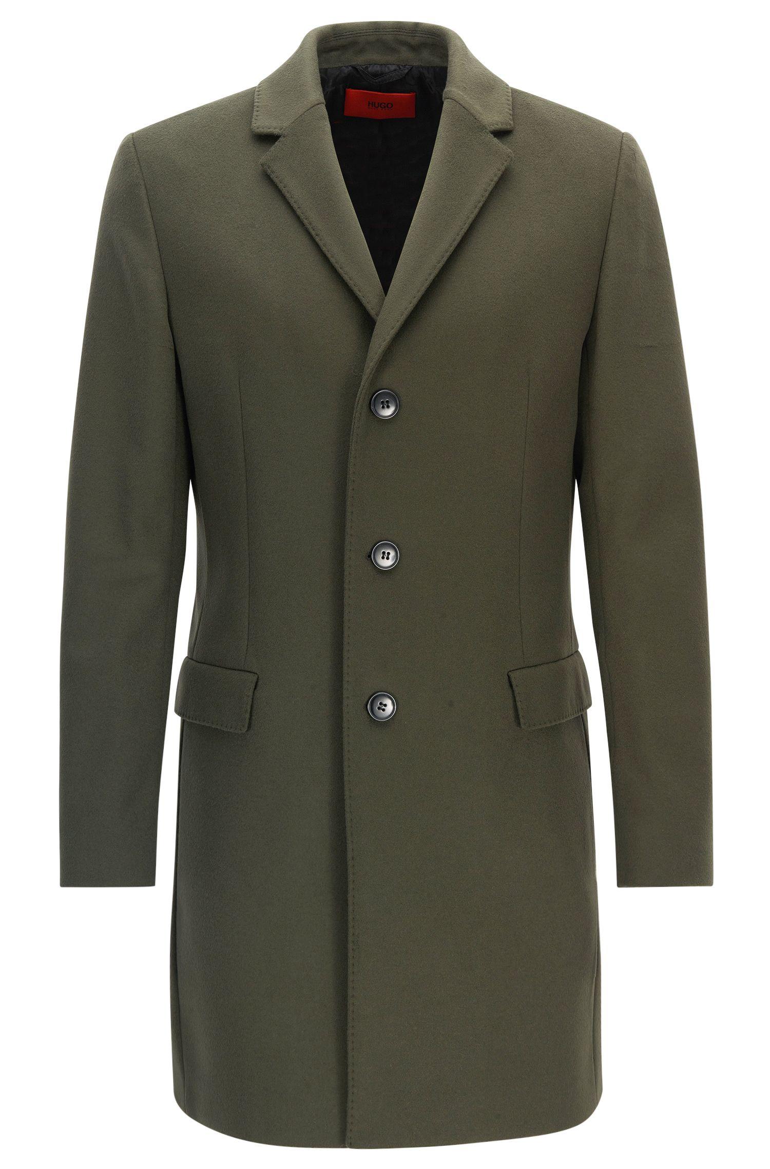 Cappotto slim fit in lana vergine e cashmere