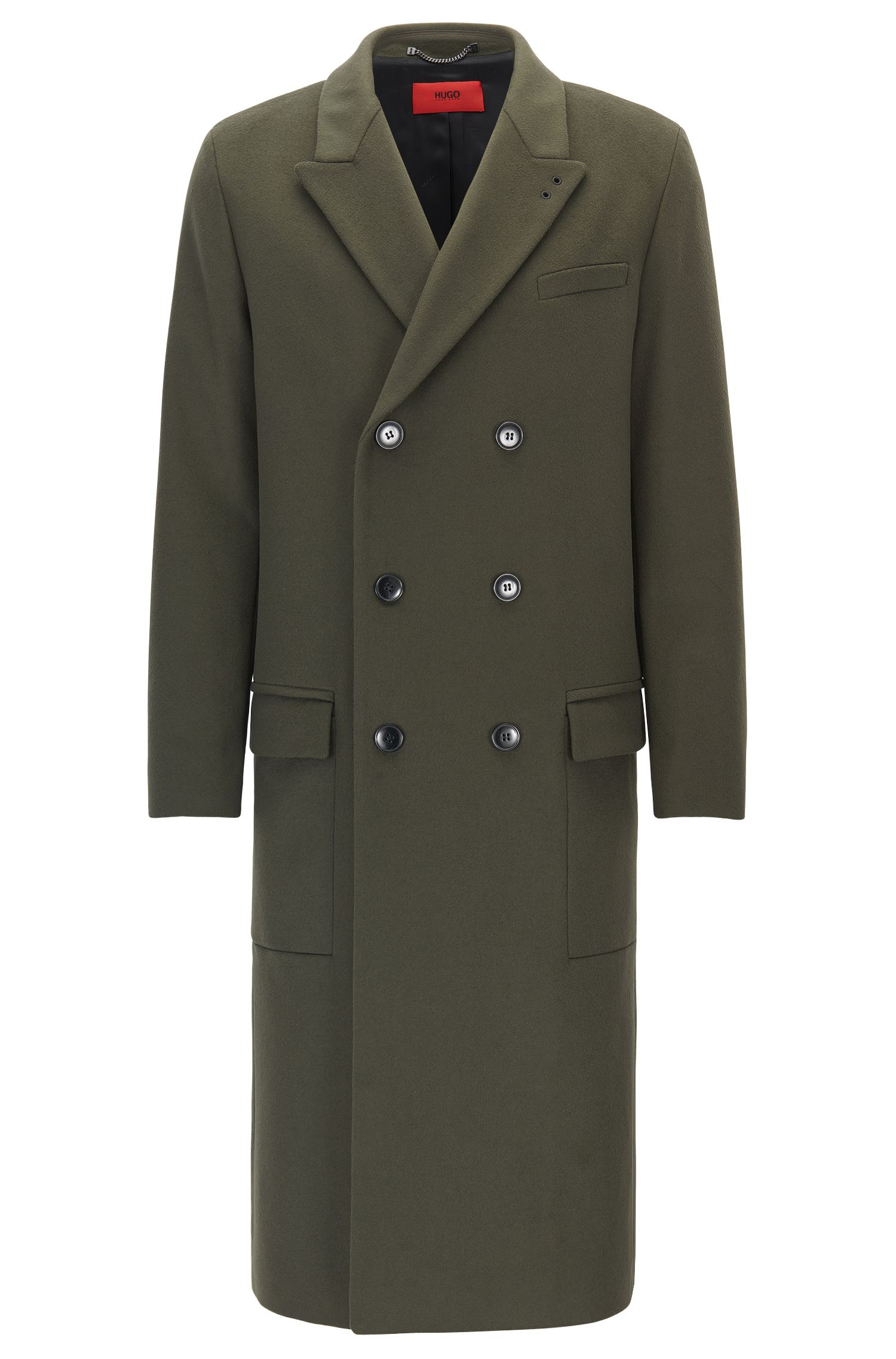 Relaxed-fit coat in virgin wool and cashmere
