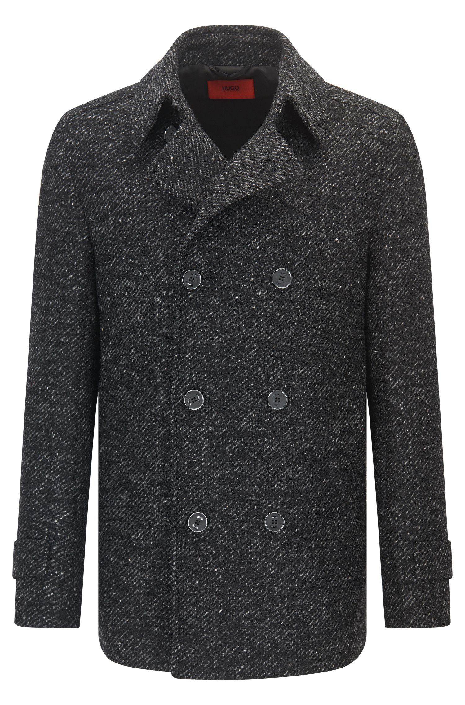 Slim-fit caban jacket in a wool blend