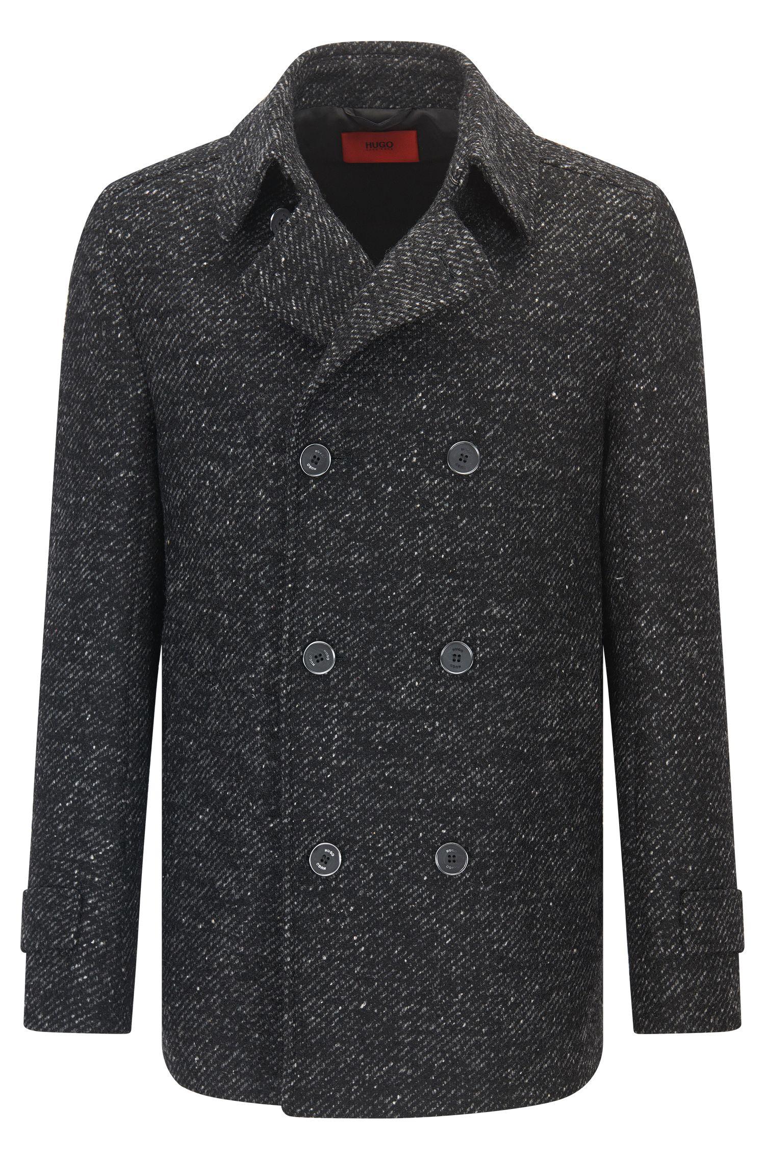 Giubbotto in stile caban slim fit in misto lana