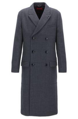 Manteau croisé structuré, Gris sombre