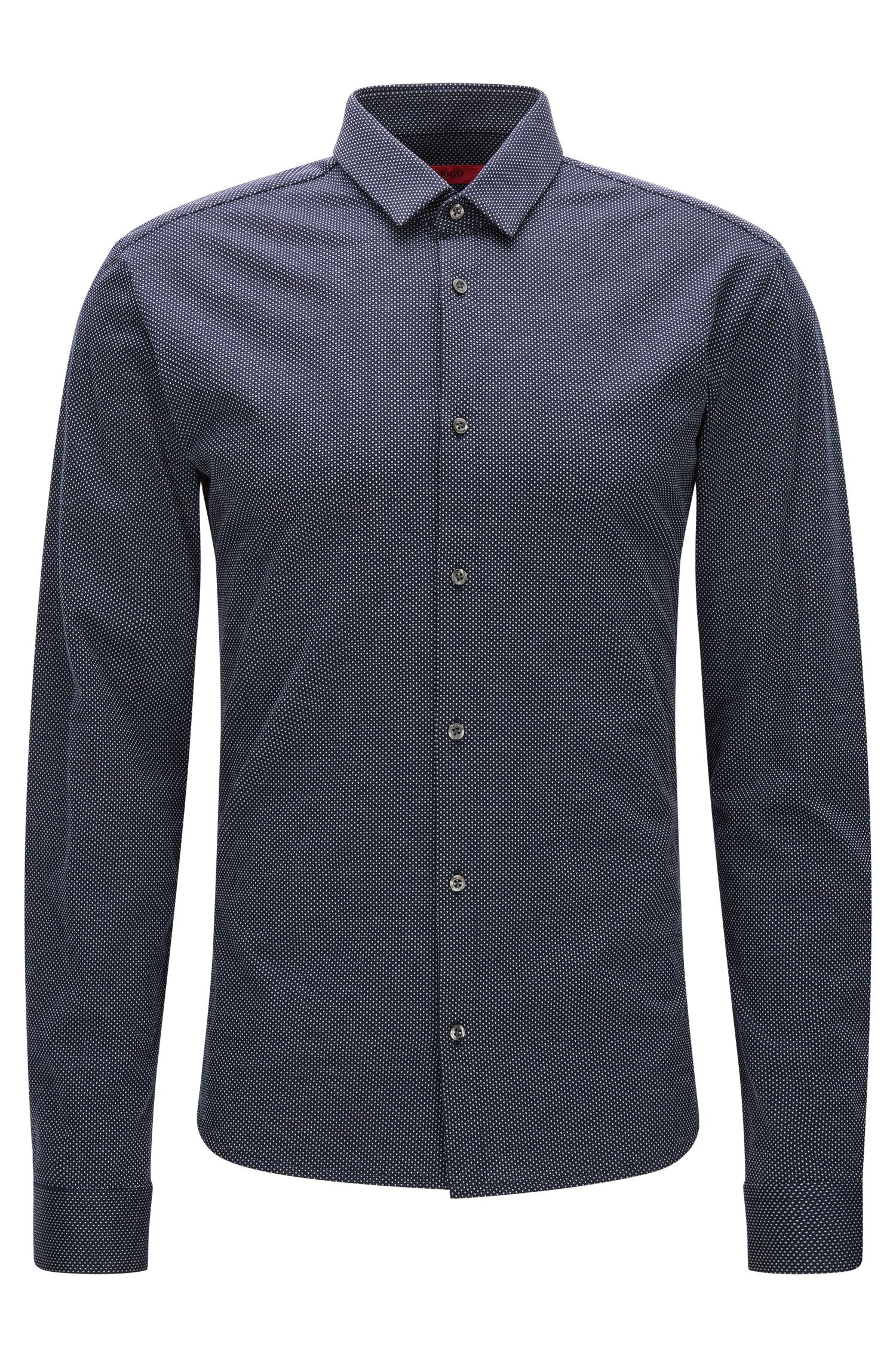 Chemise Slim Fit en jersey simple à micro-pois