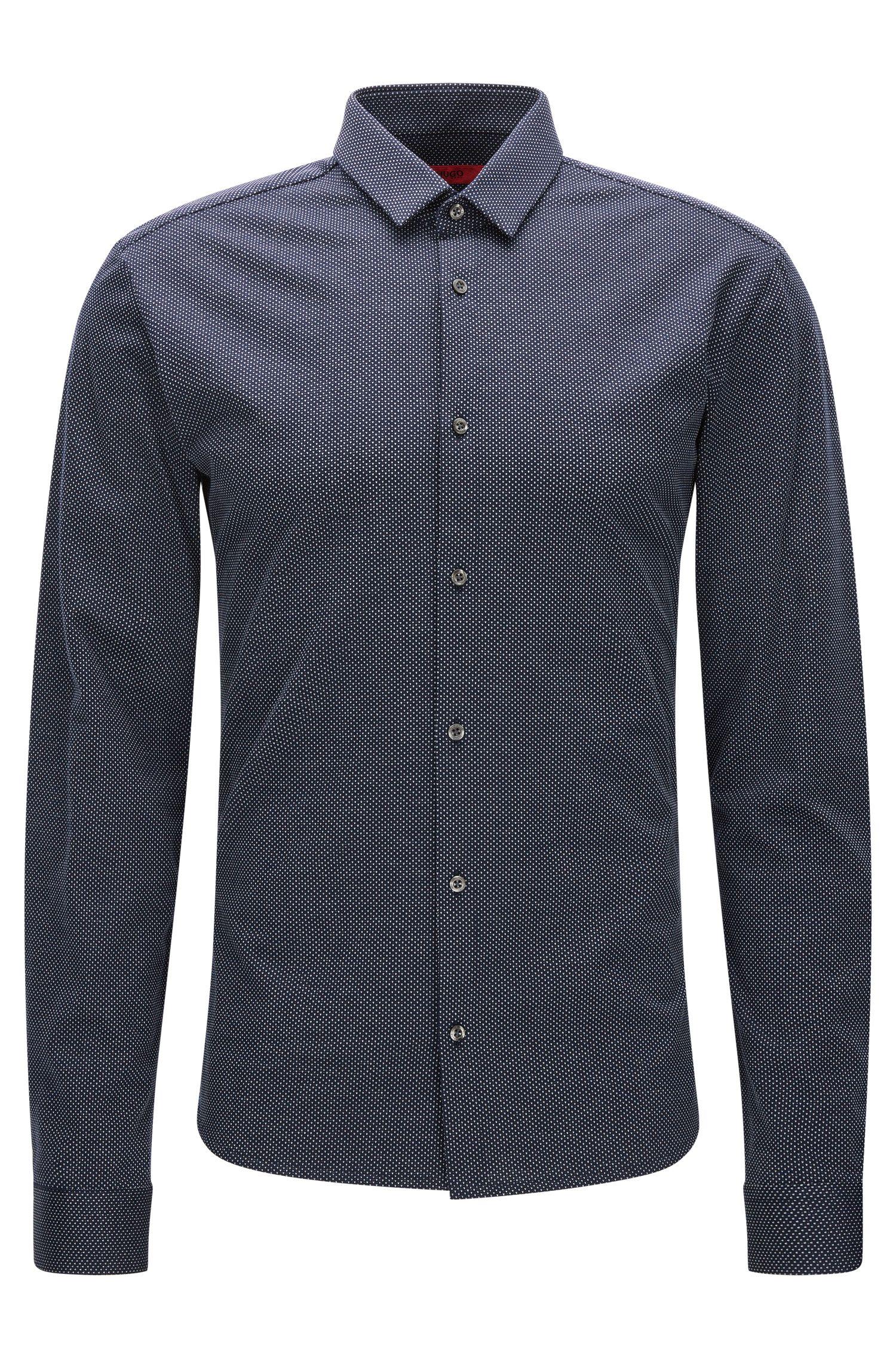Chemise Slim Fit en jersey simple à micro-pois