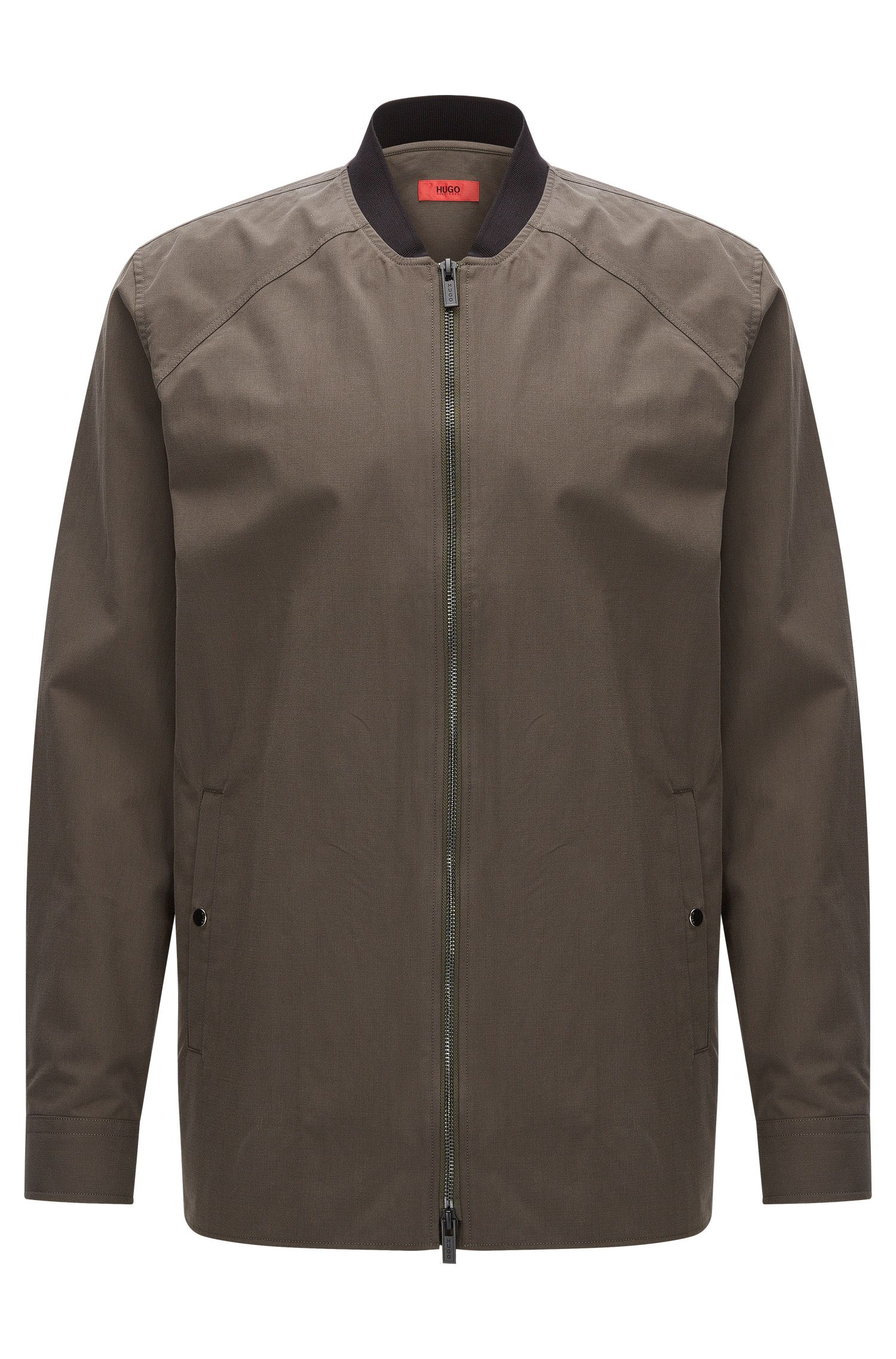 Relaxed-fit shirt jacket in mid-weight cotton