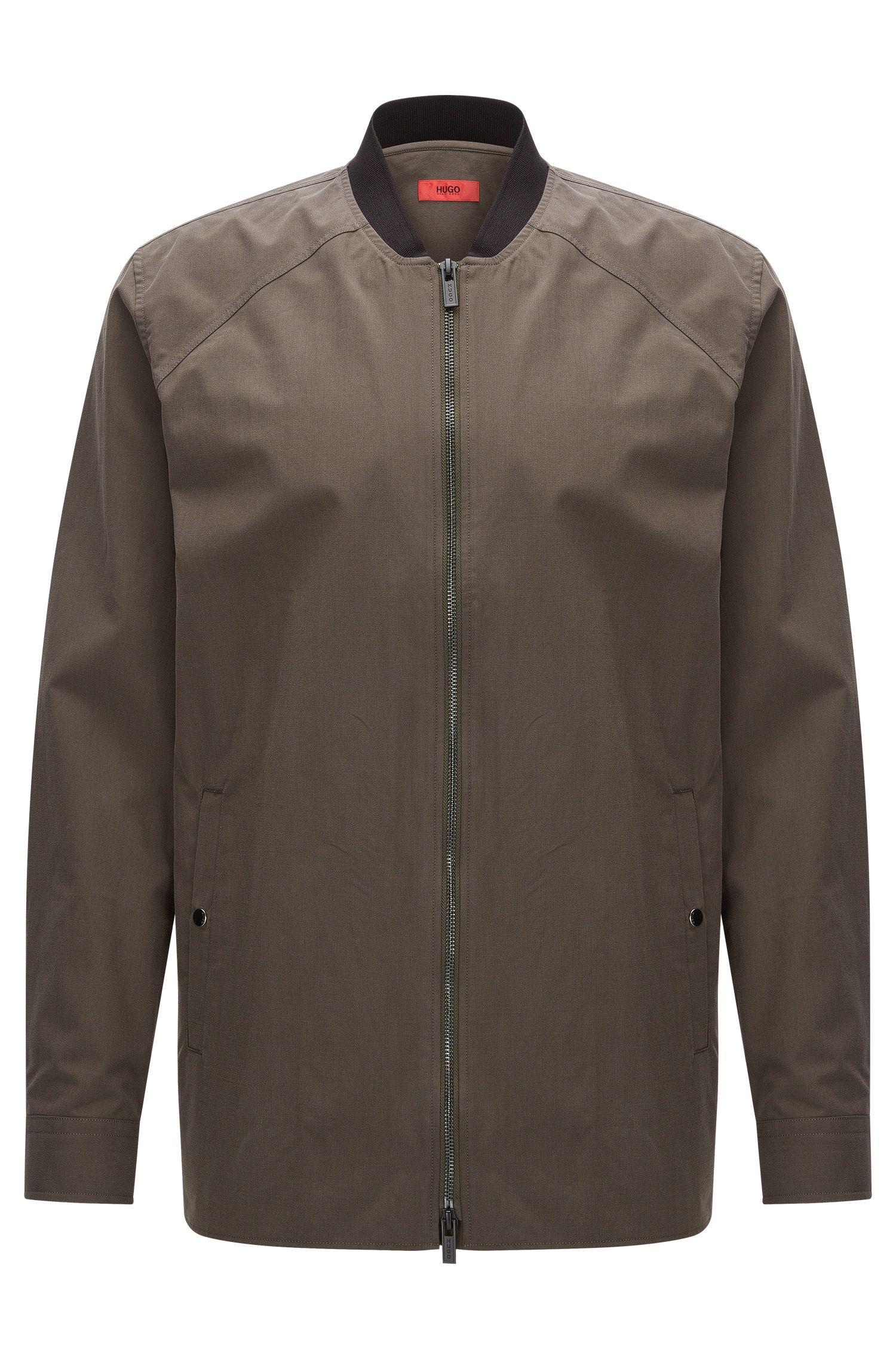 Relaxed-Fit Hemdjacke aus mittelschwerer Baumwolle