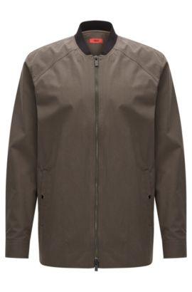 Relaxed-Fit Hemdjacke aus mittelschwerer Baumwolle, Dunkelgrün