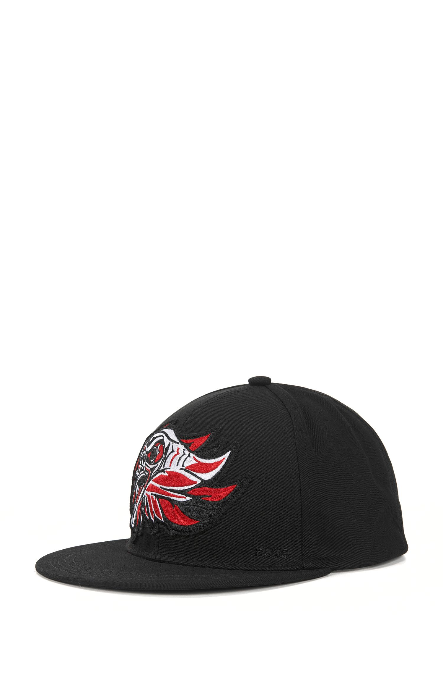 Cotton baseball cap with eagle badge