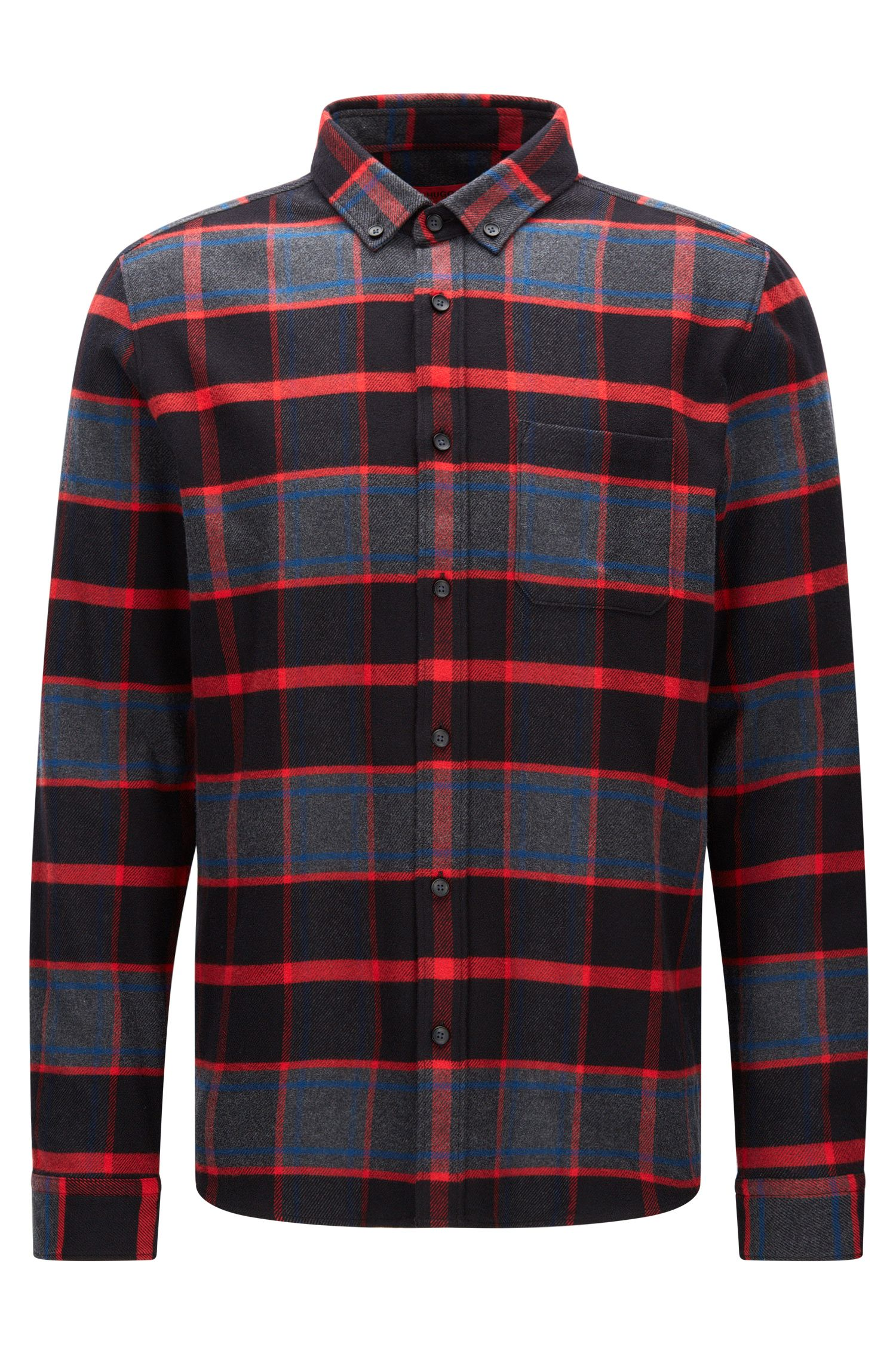 Relaxed-fit checked flannel shirt