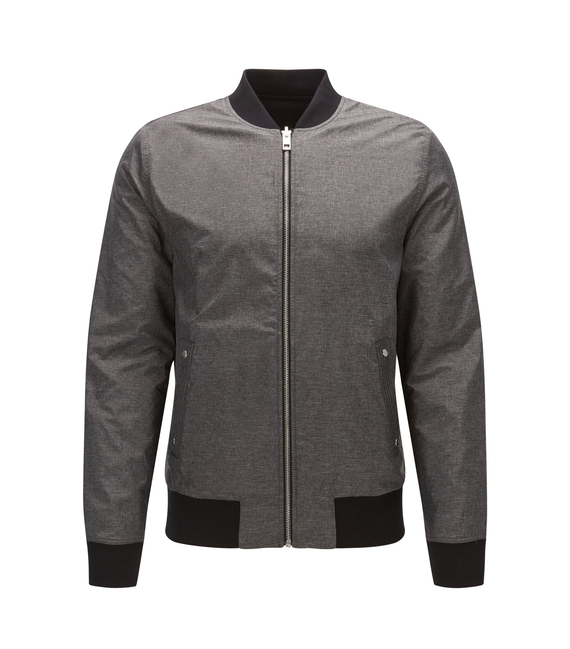 Cazadora bomber reversible relaxed fit, Gris marengo