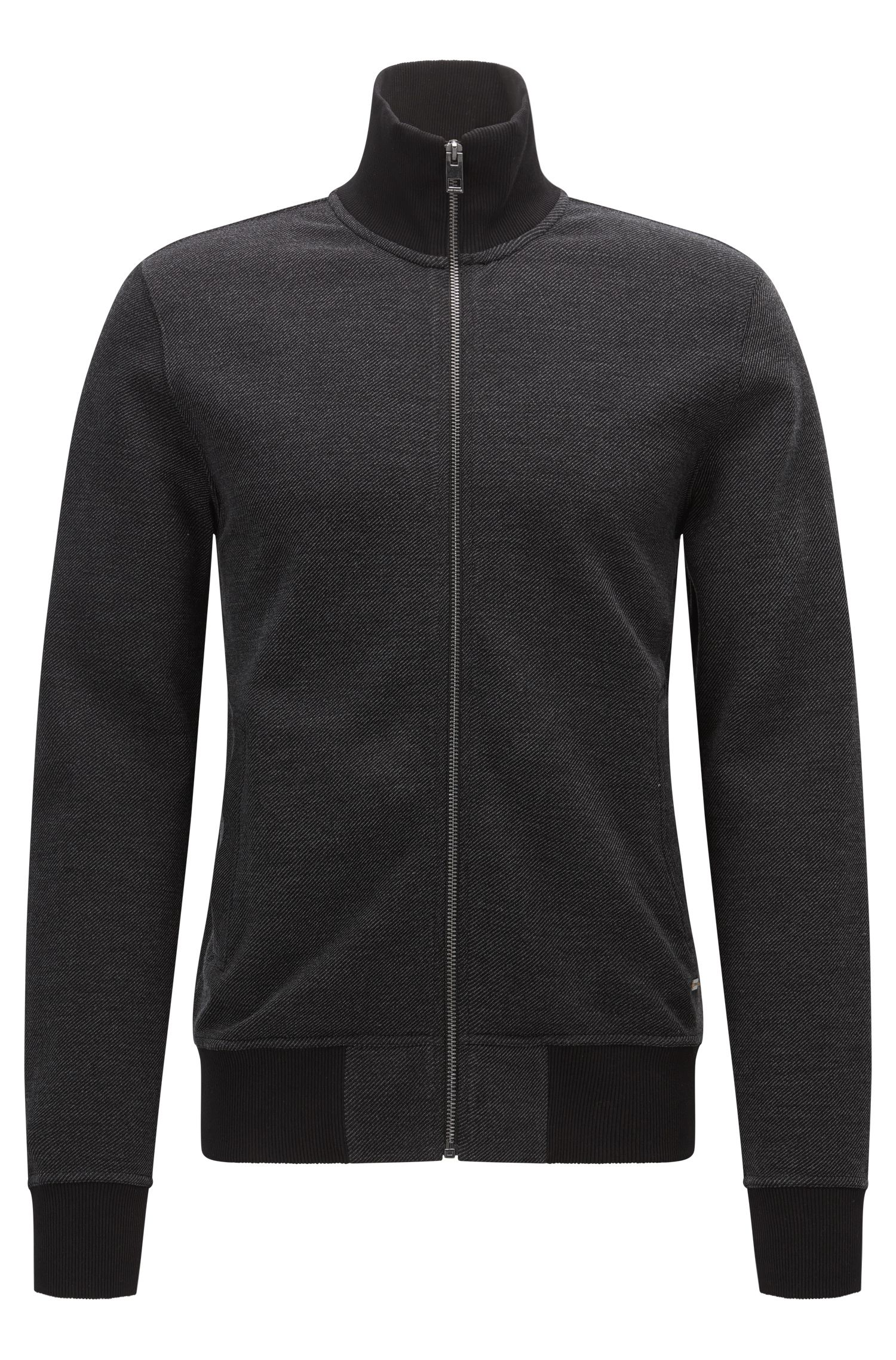 Regular-fit sweatshirt van een katoenmix