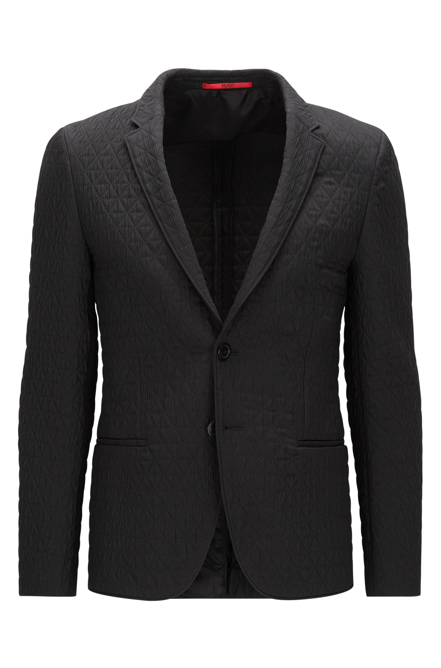 Extra-slim-fit jacket in quilted fabric