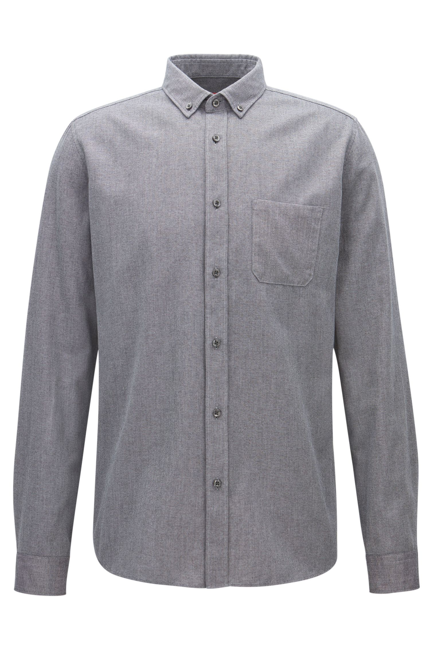 Relaxed-fit mouliné shirt in mid-weight corduroy