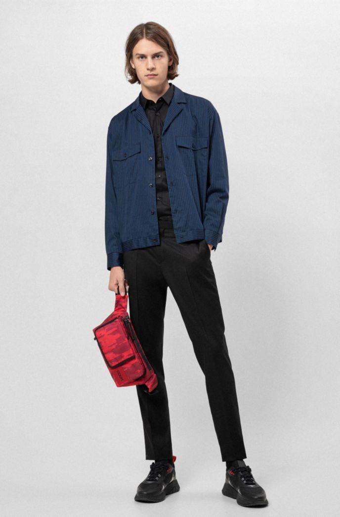Camicia extra slim fit in cotone elasticizzato