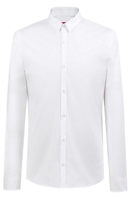 Chemise Extra Slim Fit en coton stretch, Blanc
