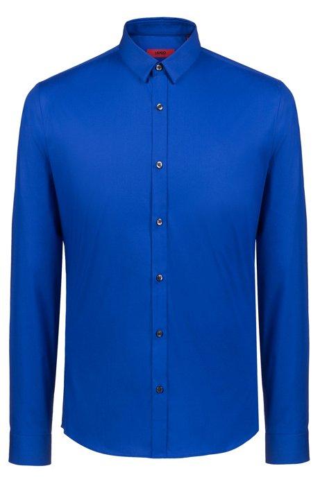 Extra Slim-fit overhemd van stretchkatoen, Blauw