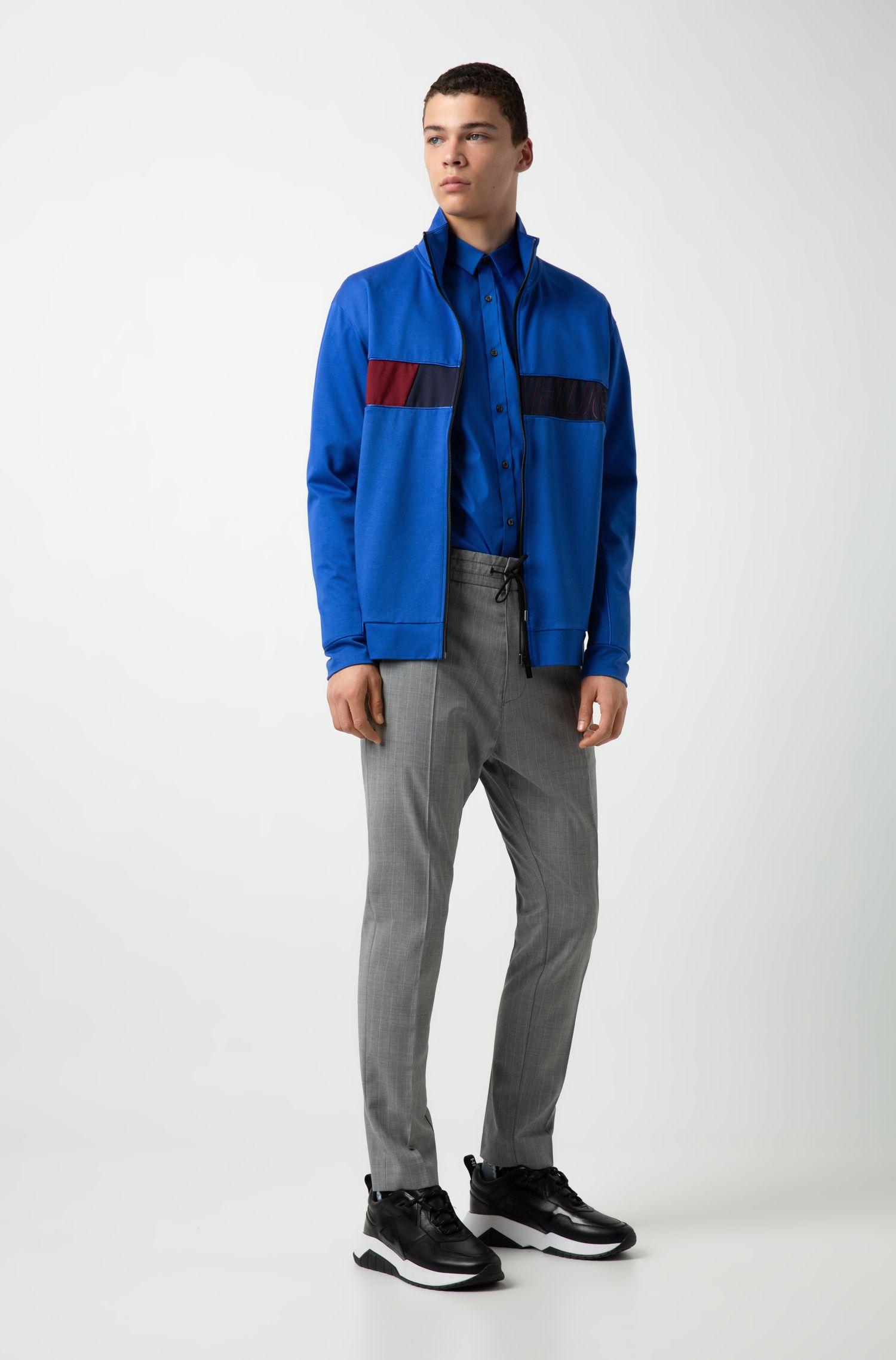 Chemise Extra Slim Fit en coton stretch, Bleu