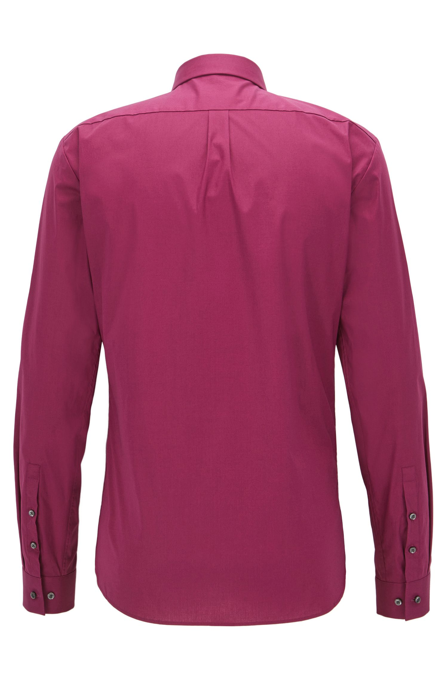 Camicia extra slim fit in cotone elasticizzato, Rosa scuro