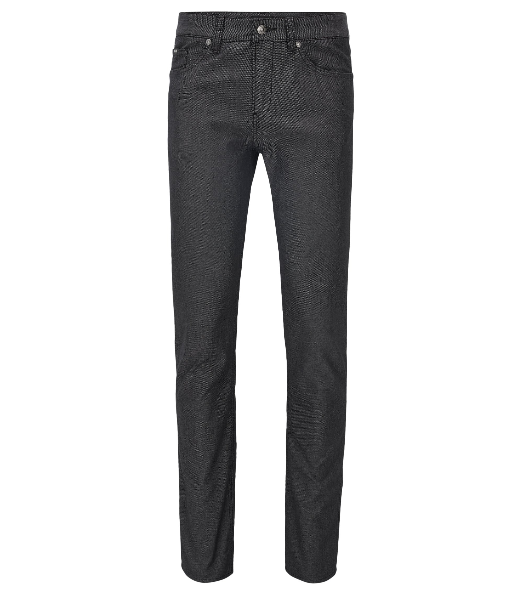 Vaqueros slim fit en denim elástico para mayor confort, Negro