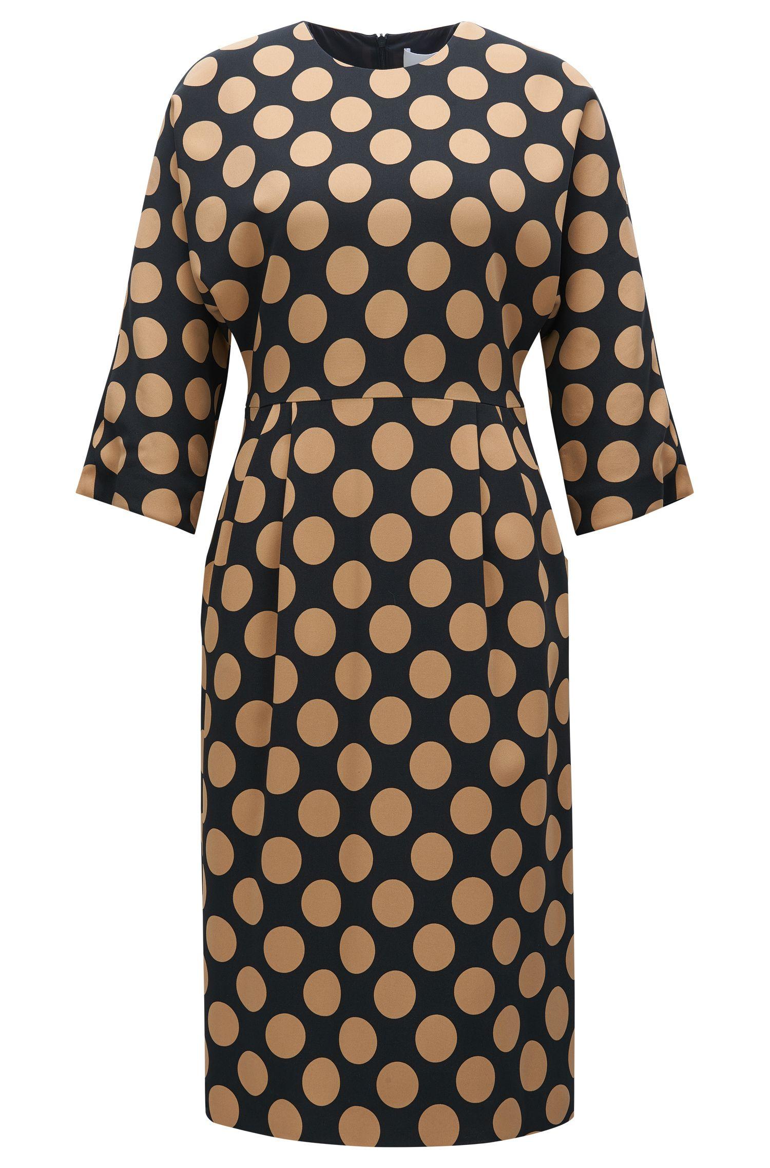 Polka-dot dress in stretch fabric