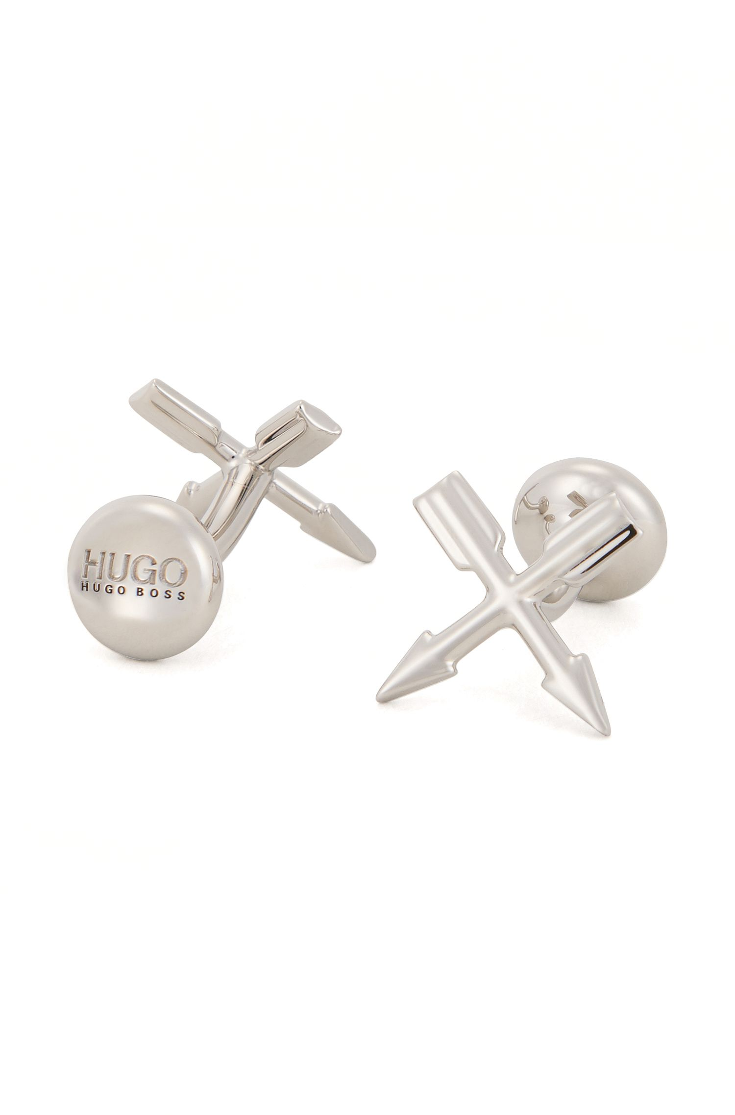 Arrow cufflinks in polished metal